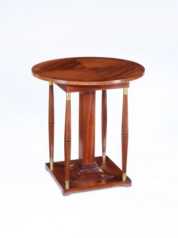 Mahogany Inlaid Secessionist Occasional Table