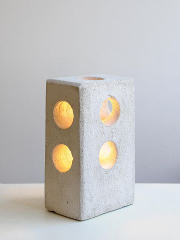 Tall Concrete Table Lamp