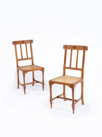 Pair of Mid 19th Century Oak Side Chairs