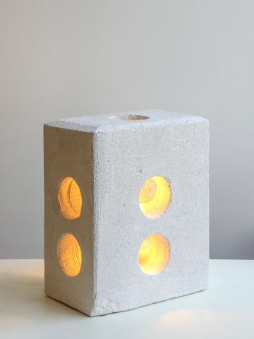 Large Concrete Table Lamp