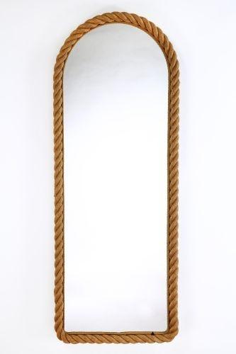 Large 1950's Rope-Bound Pier Pier Mirror