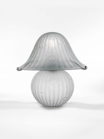 Etched Glass Table Lamp by Daum Nancy