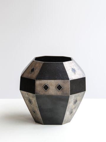 Inlaid Bronze Flower Vase