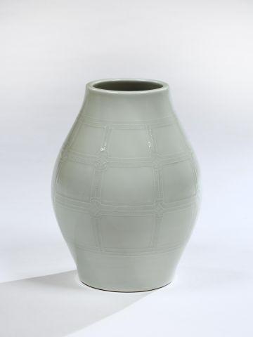 Celadon Porcelain Vase by Takahashi Dohachi