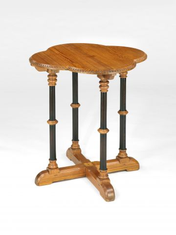 Pitch Pine 'Gothic' Occasional Table