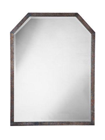 Large Art Deco Wrought Iron Mirror