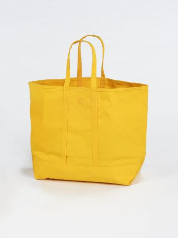 Large Yellow Canvas Tote Bag by Rose Uniacke