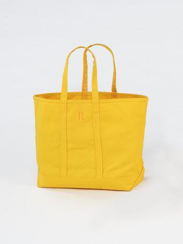 Medium Yellow Canvas Tote Bag by Rose Uniacke