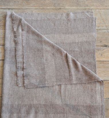 Single Ply Luxury Cashmere Stripe Shawl  by Rose Uniacke