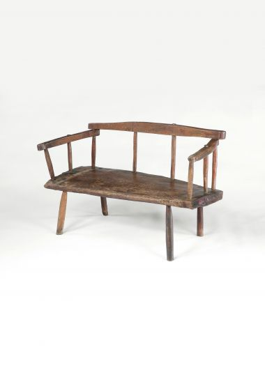18th Century Rustic Bench or Settle_0