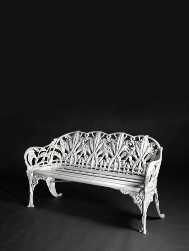 """Cast Iron """"Lilly of the Valley"""" Garden Bench"""