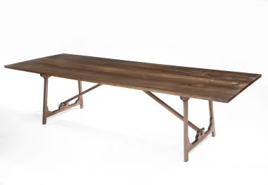 Designer wooden Folding 'Campaign' Refectory Table