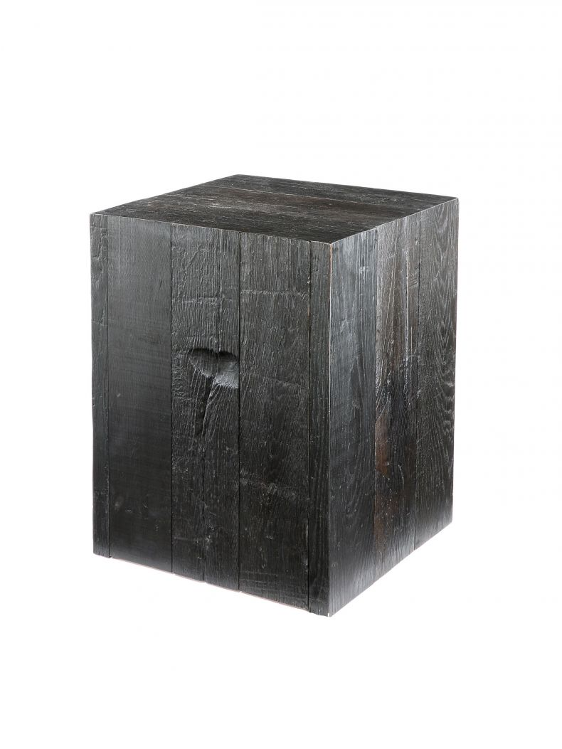 Ebonised Oak Plinth with Door_0