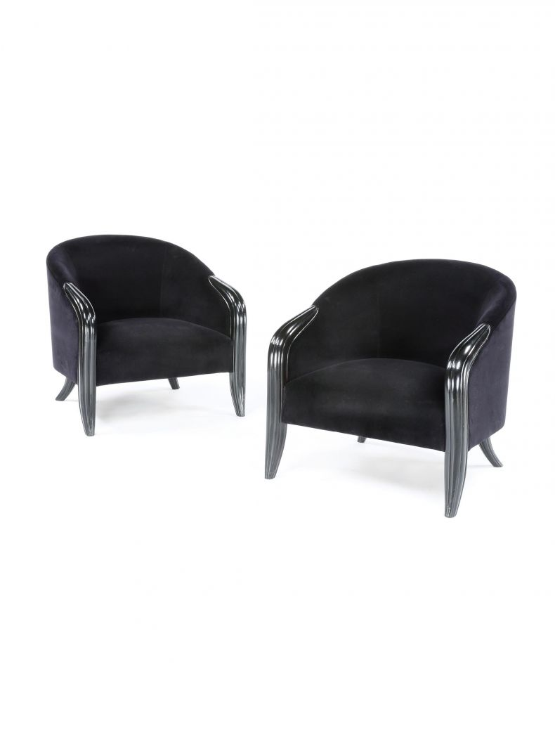 Pair of Large Art Deco 'Bombay' Armchairs_0