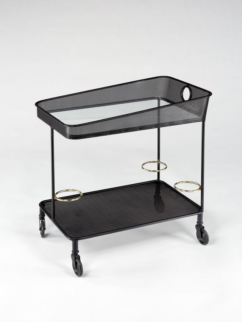 Rare Rigitulle Drinks Trolley by Mathieu Mategot_0
