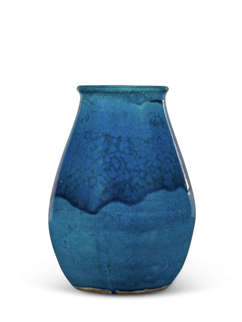Rare Turqouise Vase by Jean Besnard_0