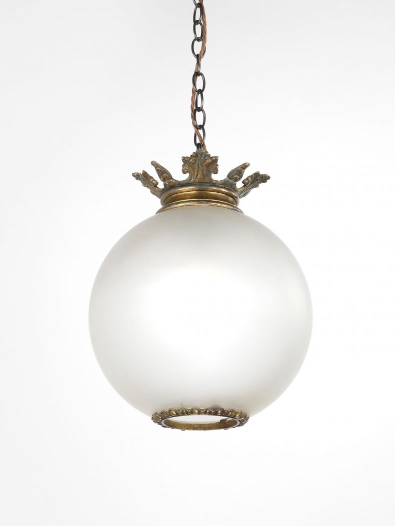 High Victorian Opalescent Hanging Globe_0