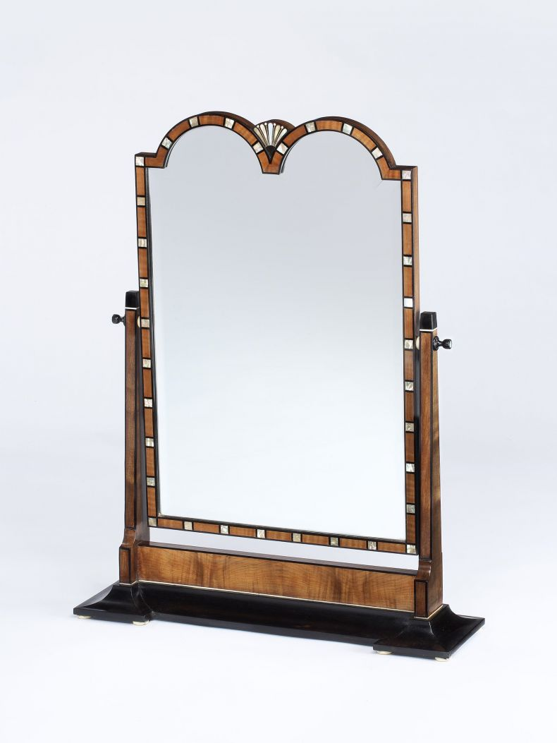 Walnut & Mother of Pearl Dressing Table Mirror by Heals_0