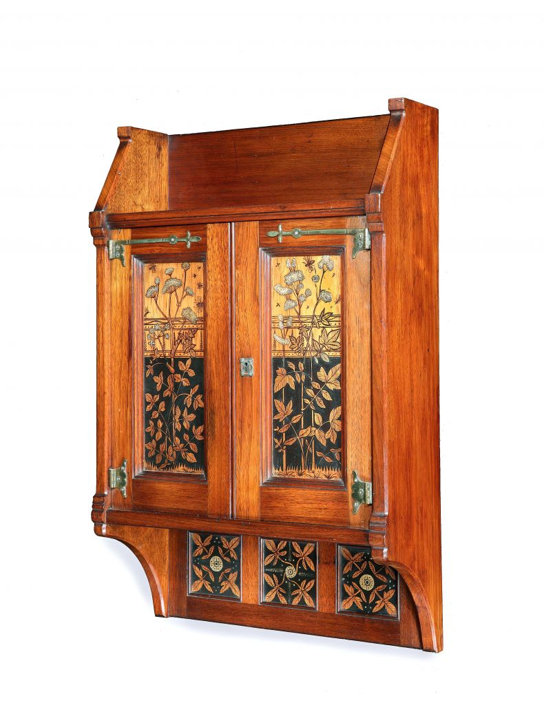 Arts & Crafts 'Bee' Wall Cabinet_0