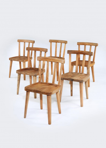 Set of Eight Utö Dining Chairs_0