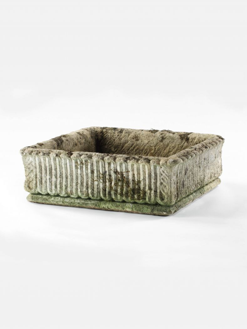 Regency Stone Square Shallow Planter_0