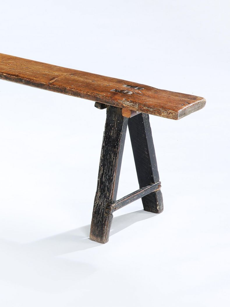 19th Century Oak Refectory Bench_0