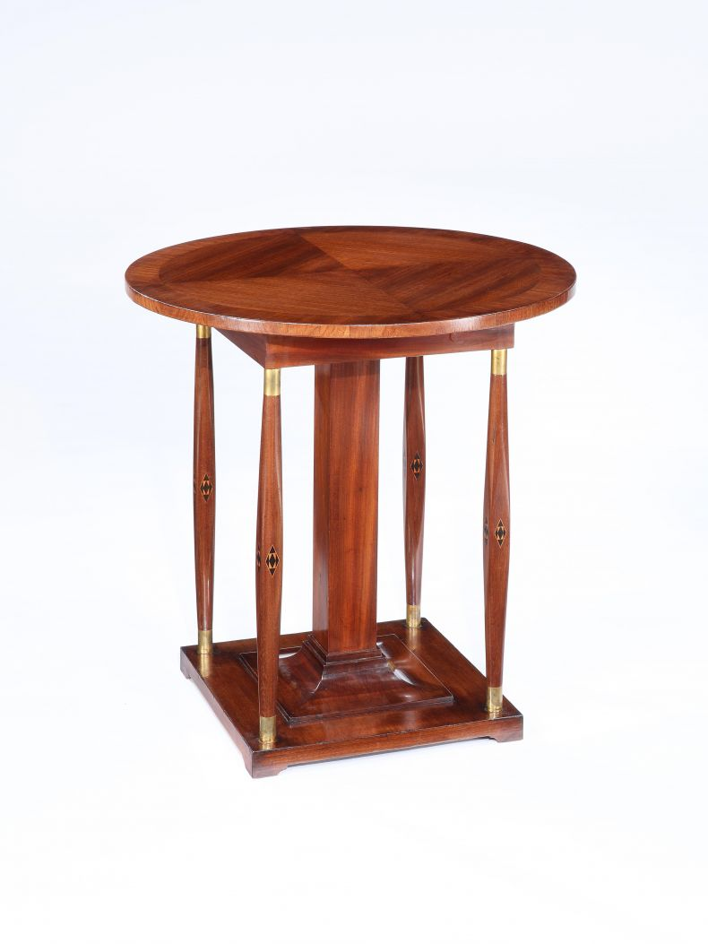Mahogany Inlaid Secessionist Occasional Table_0