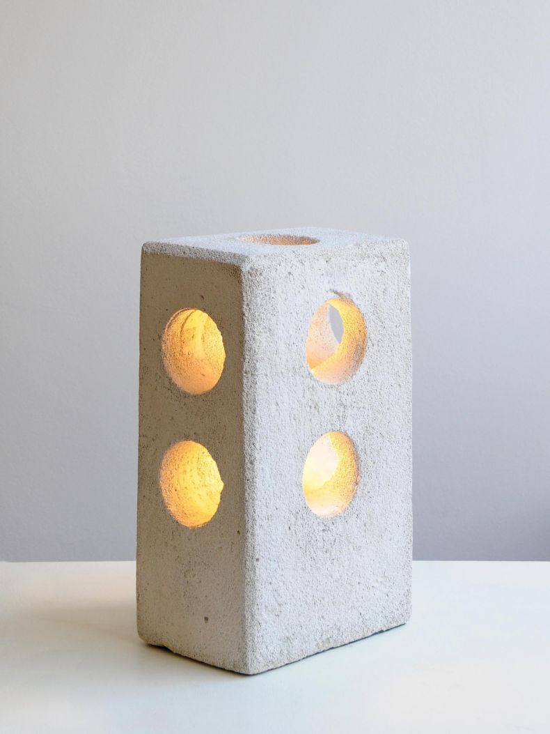 Tall Concrete Table Lamp_0