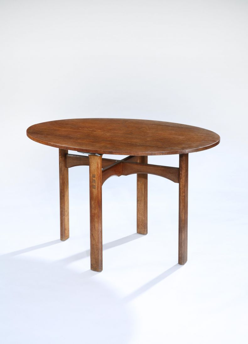 Arts & Crafts Oak Centre Table_0