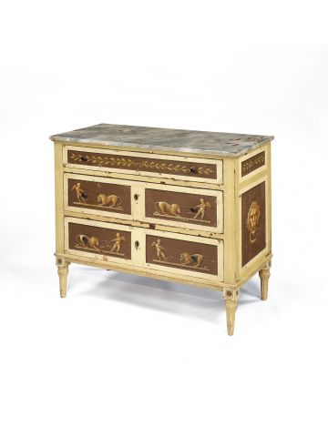 Regency Neo-Classical Painted Commode
