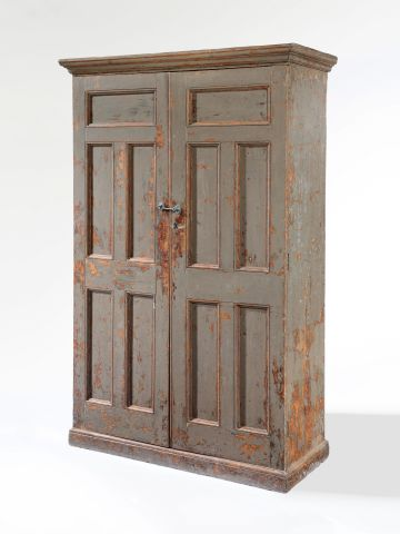 19th Century Painted Dutch Cupboard