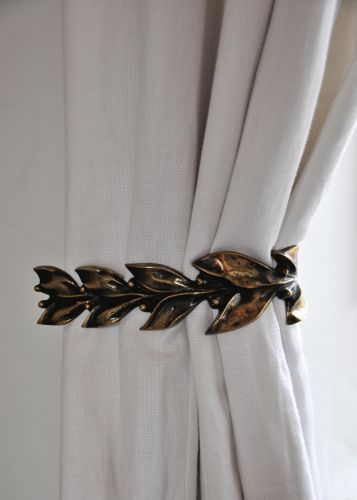 Pair of Leaf & Berry Curtain Ties by Rose Uniacke