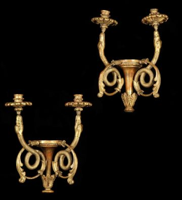 Pair of Neoclassical Style Wall Lights in the manner of Karl Schinkel