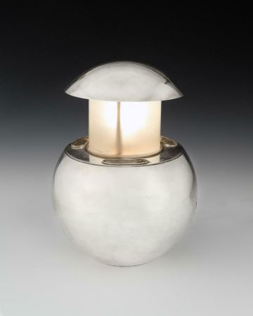 Small Nickel Plated 'Perfume Lamp' by Maison Desny