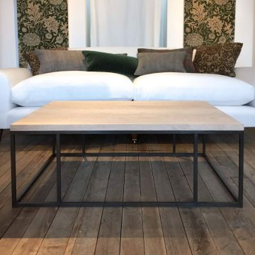 The Patinated Steel Coffee Table by Rose Uniacke