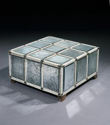 Large Rare 18th Century Mirrored Casket