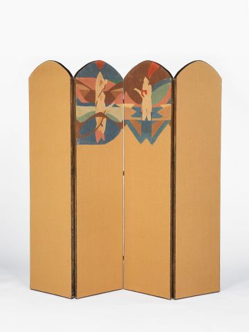 Summer & Autumn - A Four Panelled Embroidered Screen