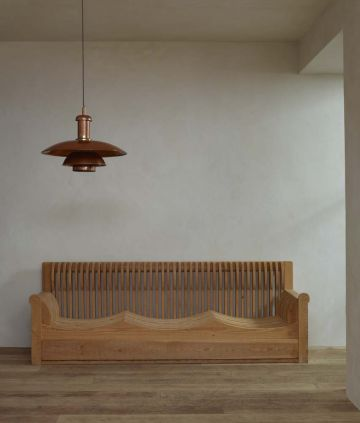 Slatted Pine Sofa by Mario Ceroli