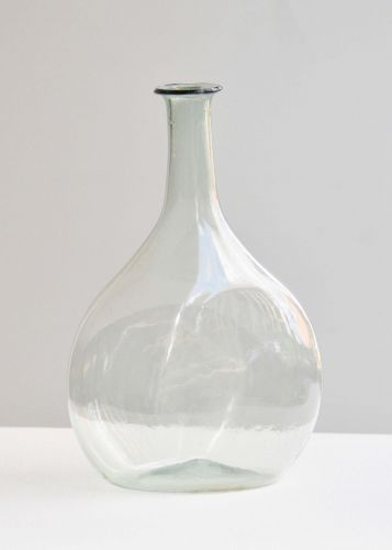 Facon de Venise Pale Green Glass Flask