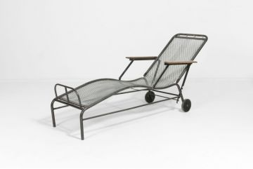Matched Pair of Chaise Longues by Jules Leleu
