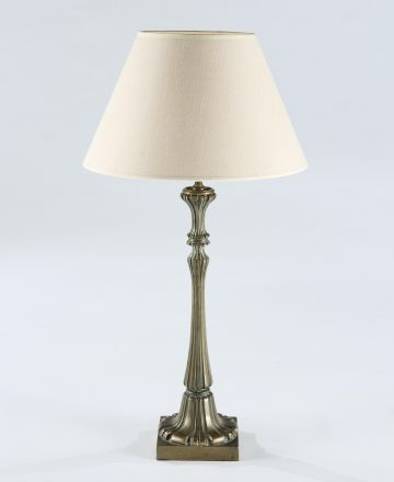 Victorian Cast Brass Table Lamp