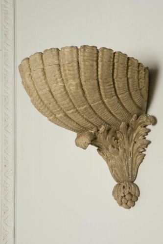 The Scallop Shell Wall Plinth by Rose Uniacke