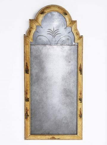 Queen Anne Japanned Pier Mirror