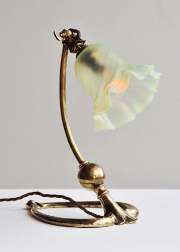 Arts & Crafts Table Lamp by W.A.S Benson
