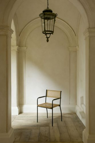 Stitched Armchair in Green by Rose Uniacke