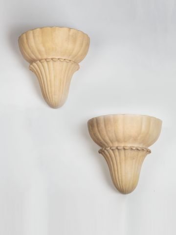 Pair of Art Deco 'Sea Shell' Wall Lights