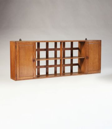 Cotswold School Wall Hanging Shelf with Side Cabinets