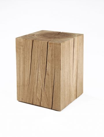 Natural Solid Oak Cube Table by Rose Uniacke