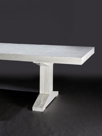 White 'Waste' Table by Piet Hein Eek