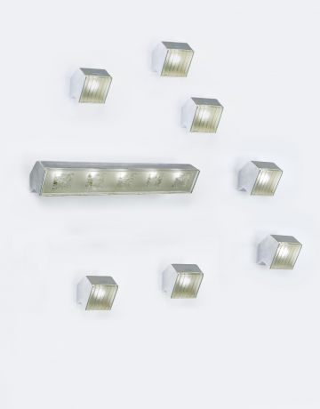 Set of Eight Wall Lights by Max Ingrand